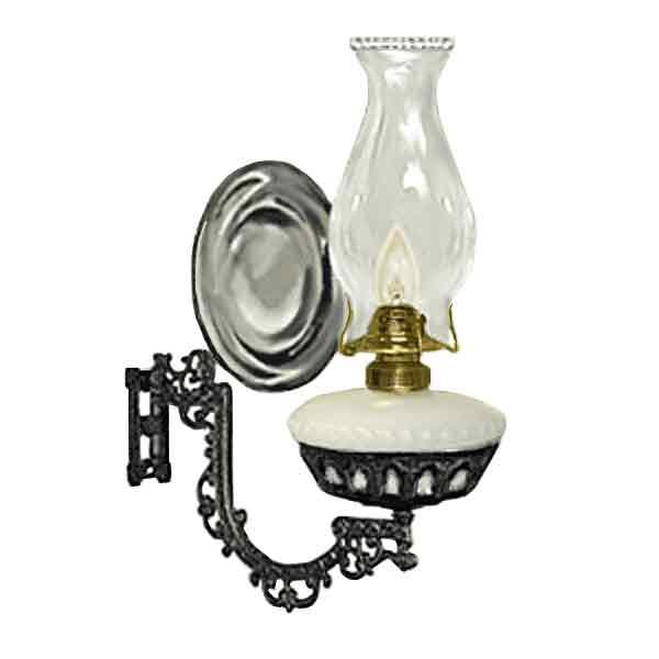 Wall Lamp, Electric, White Font - Mercury Reflector - paxton hardware ltd