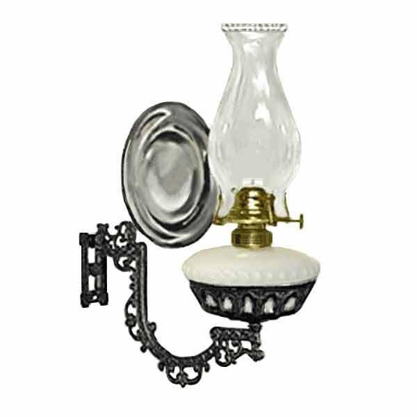 Wall Lamp, Oil, White Font - Mercury Reflector - paxton hardware ltd