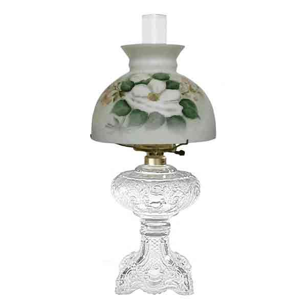 Antique Glass Lamp, Magnolia Shade - paxton hardware ltd