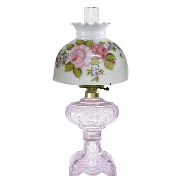 Victorian Rose Table Lamp, Pink - paxton hardware ltd