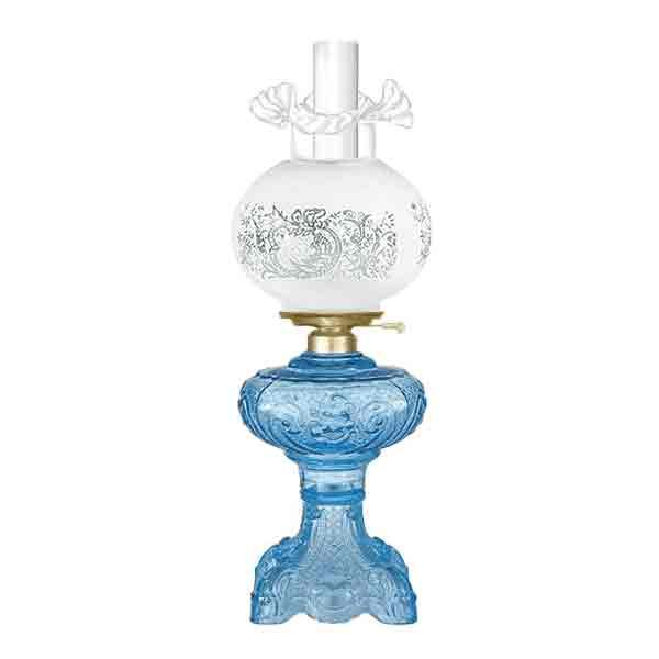 Turquoise Glass Astral Lamp - paxton hardware ltd