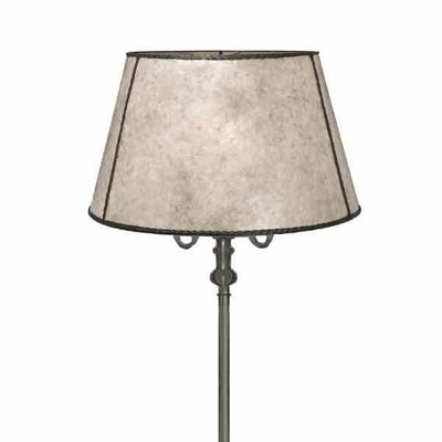 Ivory Mica Lamp Shades are light in color offering great light on Reflector Floor Lamp