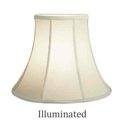 Eggshell Bell Lamp Shades, 16 inch base - paxton hardware ltd