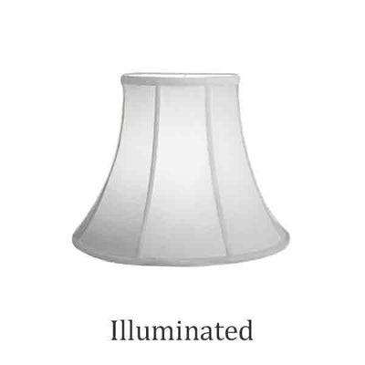 "Small Silk Bell shaped Lamp Shade, 12"" Base"