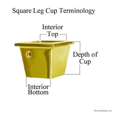 Measurement diagram for Square Leg Cups