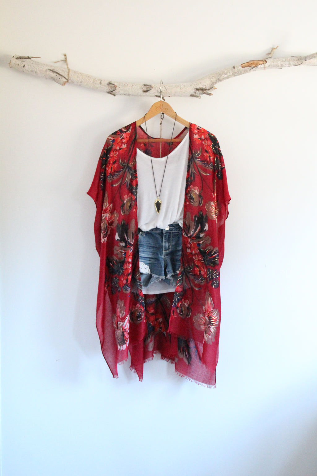 Bed of Roses | Bohemian Kimono with Colorful Floral Pattern