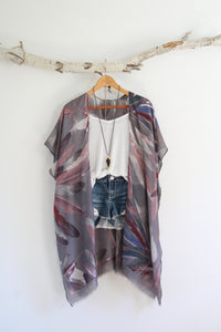 Atikamekw | Bohemian Kimono with Colored Feather Patterns