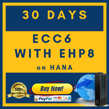 ECC6 with EHP8 on HANA - 30 Days