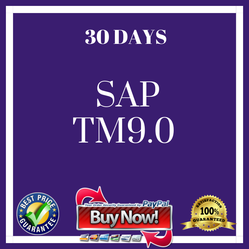 SAP TM9.0 30 DAYS