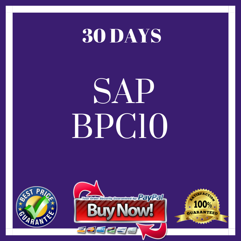 SAP SAP  BPC10 30 DAYS