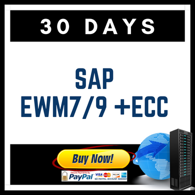 SAP EWM7/9 + ECC 30 Days