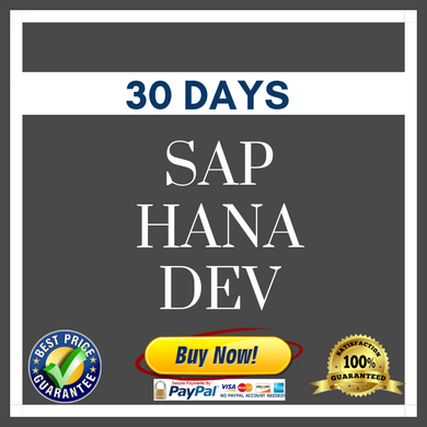 SAP HANA DEV 30 DAYS