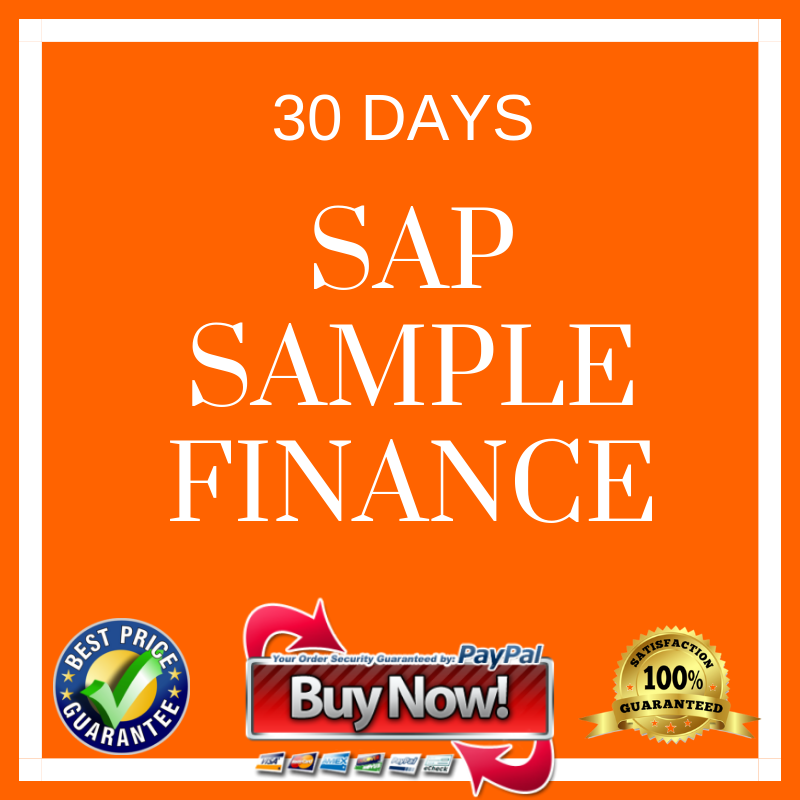 SAP SIMPLE FINANCE 30 DAYS