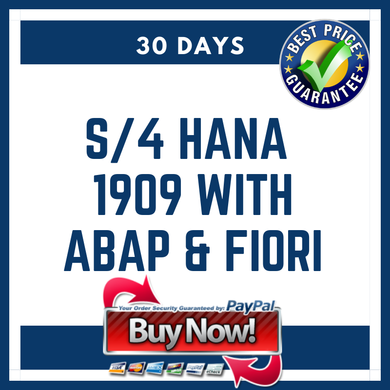 S/4 HANA 1909 with ABAP & Fiori (30 Days)