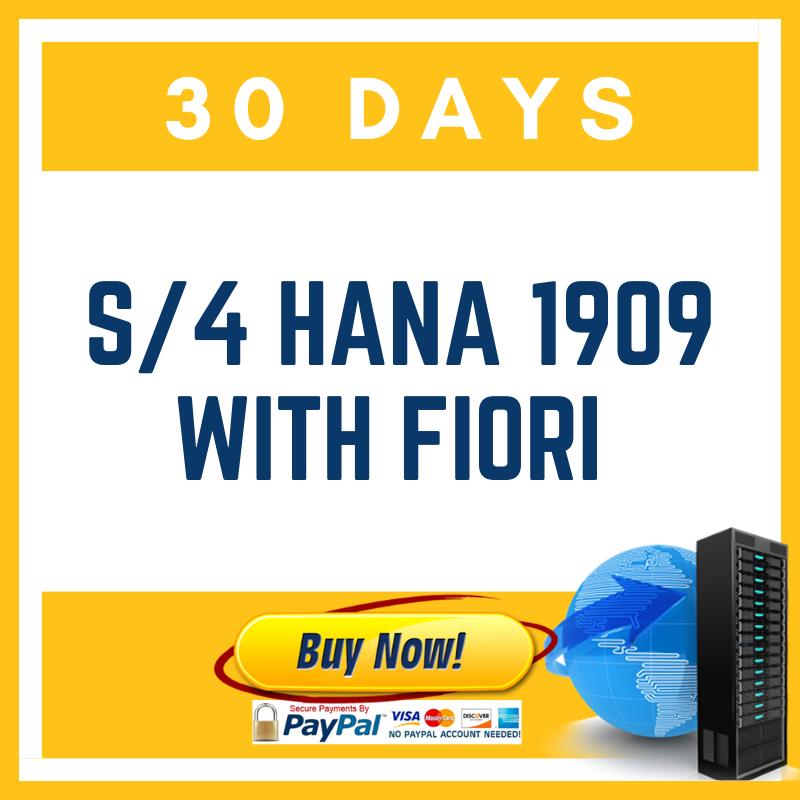 S/4 HANA 1909 with Fiori - 30 Days