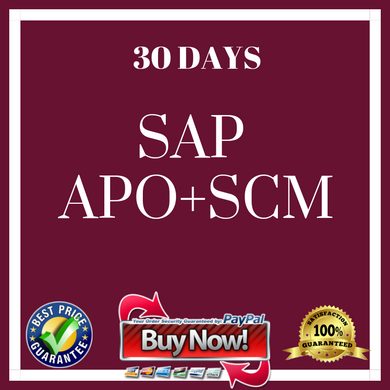 .SAP APO + SCM (30 Days)
