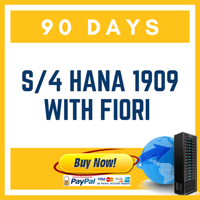 S/4 HANA 1909 with Fiori - 90 Days