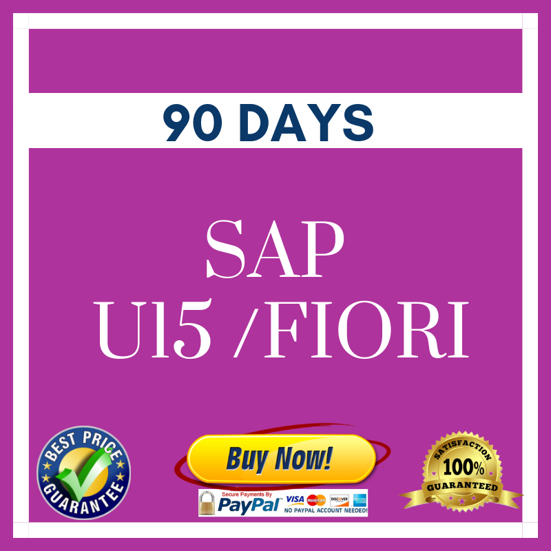 SAP U15 FIORI 90 DAYS