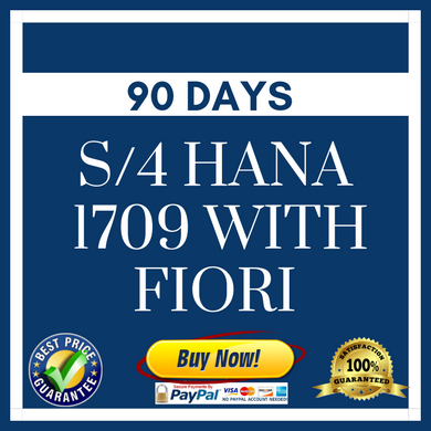 S/4 HANA 1709 with Fiori - 90 Days