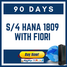 S/4 HANA 1809 with Fiori 90 Days
