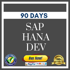 SAP HANA DEV 90 DAYS