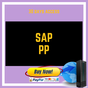 SAP PP 30 DAYS