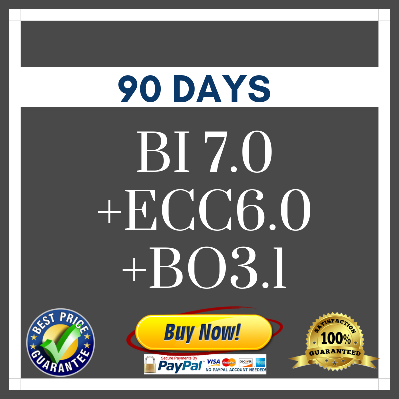 SAP BI 7.0 + ECC6.0 +BO3.1 (90 Days)