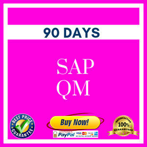 SAP QM 90 DAYS