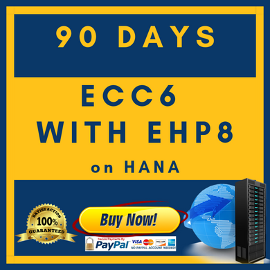 ECC6 with EHP8 on HANA - 90 Days