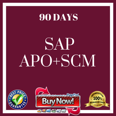 .SAP APO + SCM 90 DAYS