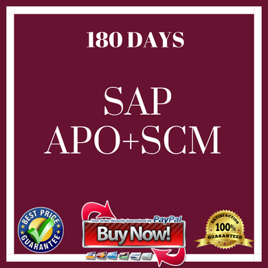 .SAP APO + SCM 180 DAYS