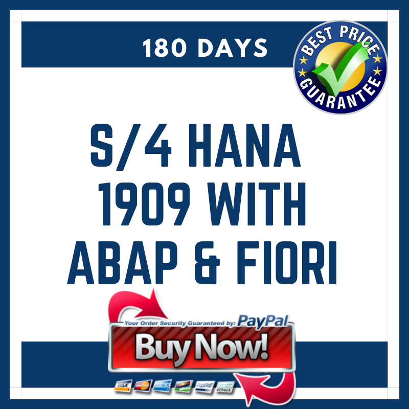 S/4 HANA 1909 with ABAP & Fiori 180 Days