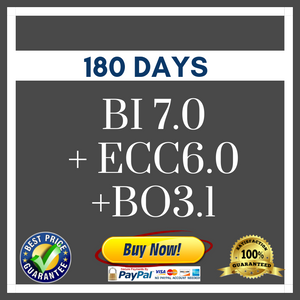 SAP BI 7.0 + ECC6.0 +BO3.1 180 DAYS