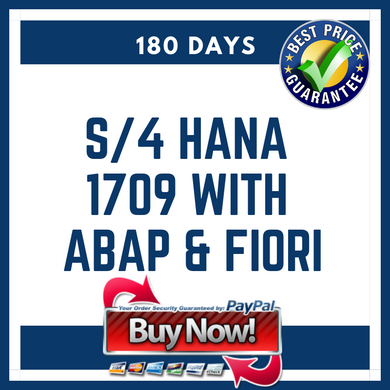 S/4 HANA 1709 with ABAP & Fiori 180 Days