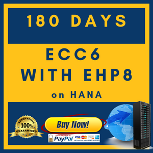 ECC6 with EHP8 on HANA - 180 Days