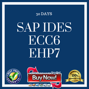 SAP IDES ECC6 EHP7 30 Days
