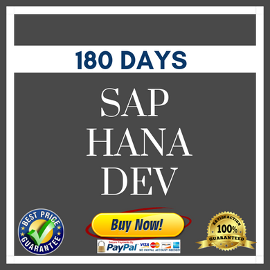 SAP HANA DEV 180 DAYS