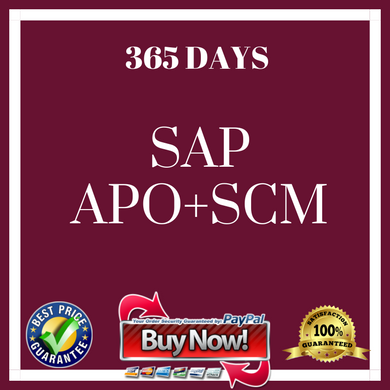 .SAP APO + SCM (365 Days)