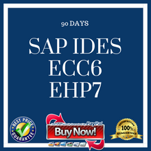 SAP IDES ECC6 EHP7 (90 Days)