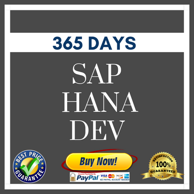 SAP HANA DEV 365 DAYS