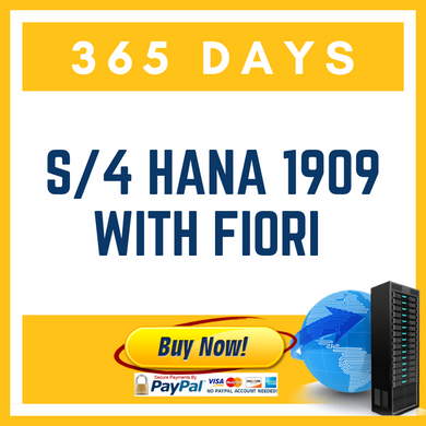 S/4 HANA 1909 with Fiori - (365 Days)
