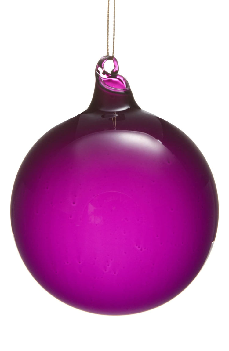 BUBBLEGUM BALL ORNAMENTS - PURPLE (100mm x 3)