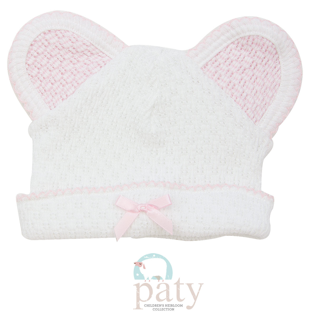 KNIT BEAR CAP - PINK - Made by McNamara