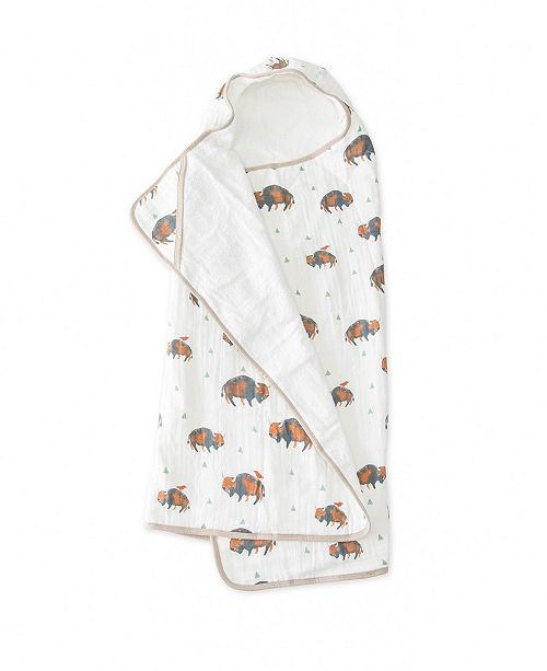 BIG KID HOODED TOWEL - BISON - Made by McNamara