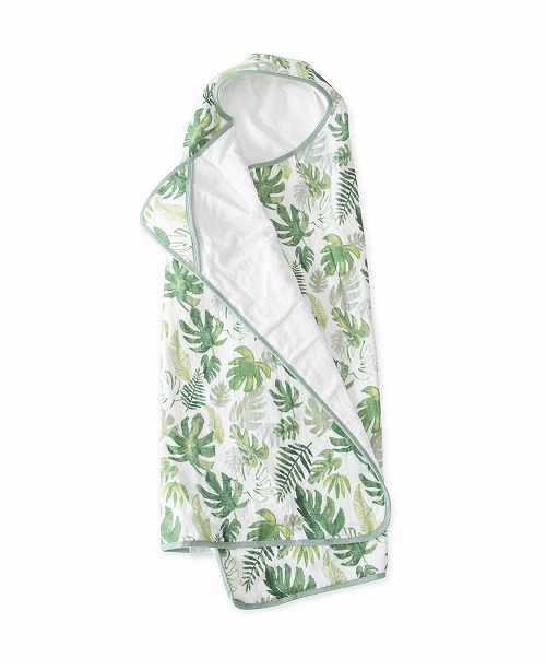 BIG KID HOODED TOWEL - TROPICAL LEAF - Made by McNamara