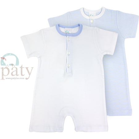 BLUE STRIPE COTTON ROMPER - Made by McNamara