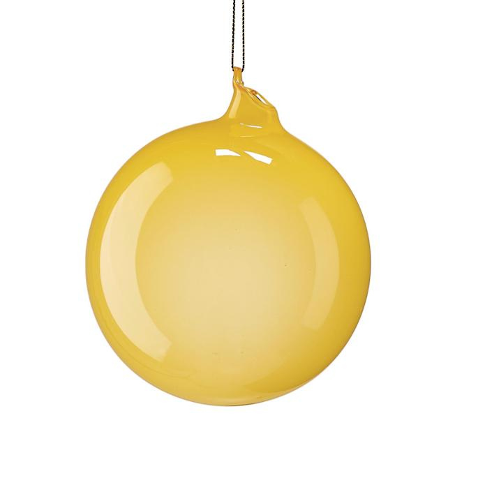 BUBBLEGUM GLASS ORNAMENTS - YELLOW (120mm) - Made by McNamara