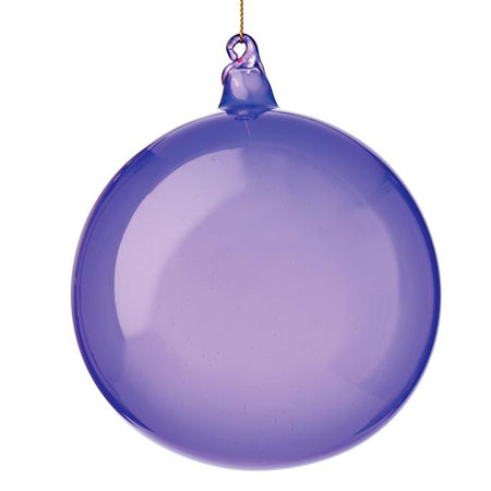 BUBBLEGUM GLASS ORNAMENTS - VIOLET (100 mm x 3) - Made by McNamara
