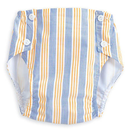 WILLIS DIAPER COVER - SUNNYSIDE STRIPE - Made by McNamara
