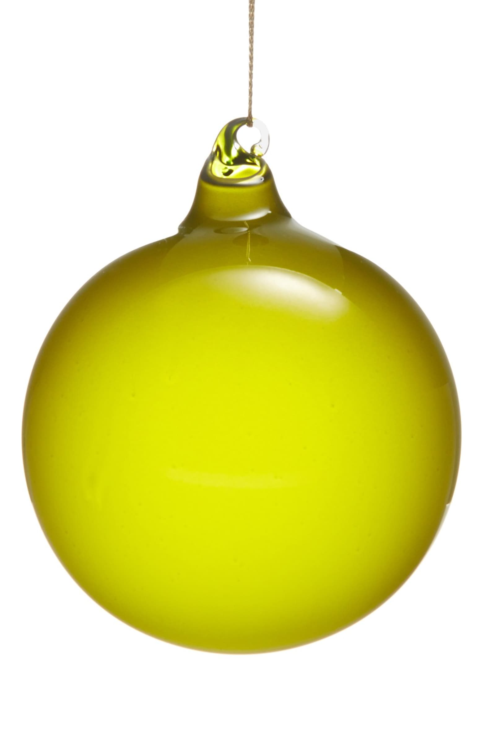 BUBBLEGUM GLASS ORNAMENTS - LIME (100mm x3) - Made by McNamara